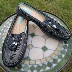 Sperry Marilee loafer mule black patent leather